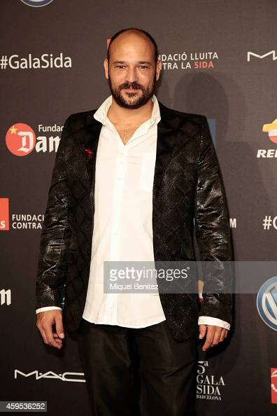 Carlos Fuentes poses during a photocall for 'Fifth Gala Against HIV 2014' at the Museu Nacional d'Art de Catalunya on November 24 2014 in Barcelona...