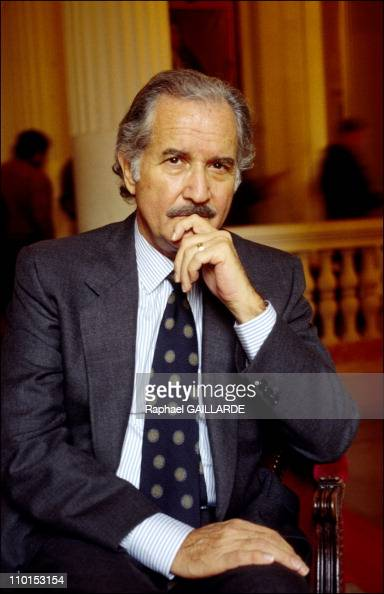 Carlos Fuentes writer in Paris France on July 24 2002