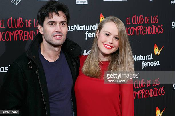 Carlos Garcia and Esmeralda Moya attend 'El Club de los Incomprendidos' Premiere on December 1 2014 in Madrid Spain
