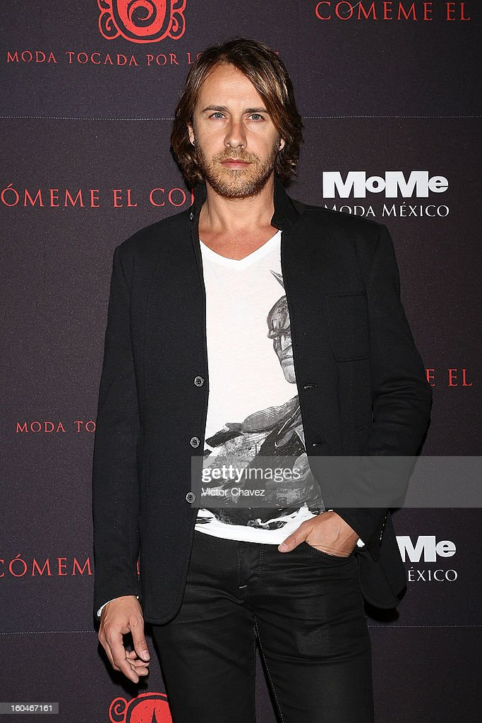 Carlos Gascon attends the Comeme El corazon Moda Tocada Por Los Dioses event at Estacion Indianilla on January 31, 2013 in Mexico City, Mexico.
