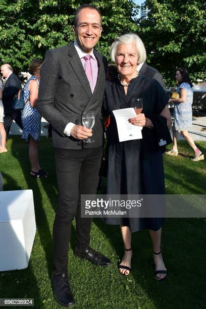 Carlos Gerardo Izzo and Virginia Dimsey attend the Four Freedoms Park Conservancy's Sunset Garden Party honoring Tom Brokaw at Four Freedoms Park on...