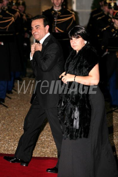 carlos ghosn ceo of renault nissan and his wife attend the. Black Bedroom Furniture Sets. Home Design Ideas
