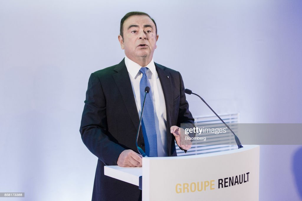 Chairman of Renault SAS Carlos Ghosn Attends Carmaker's Strategic Plan News Conference