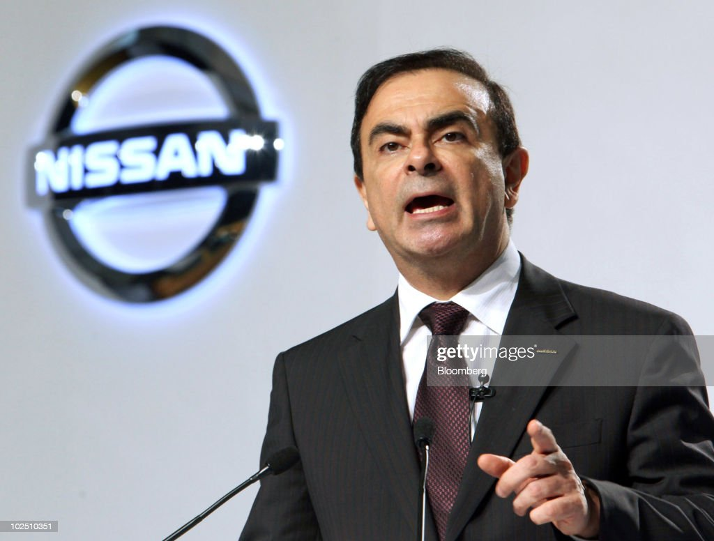 <a gi-track='captionPersonalityLinkClicked' href=/galleries/search?phrase=Carlos+Ghosn&family=editorial&specificpeople=215025 ng-click='$event.stopPropagation()'>Carlos Ghosn</a>, chief executive officer of Nissan Motor Co., speaks during a news conference in Jakarta, Indonesia, on Tuesday, June 29, 2010. Nissan Motor Co., Japan's third largest automaker, plans to invest $20 million at a plant in Indonesia to double production in the country as economic growth spurs demand for cars. Photographer: Dimas Ardian/Bloomberg via Getty Images