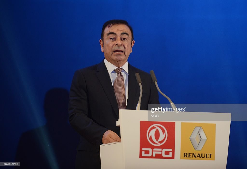 Carlos Ghosn, Chief Executive Officer of Renault, attends a signing ceremony at Donghu Hotel on December 16, 2013 in Wuhan, China. The Dongfeng Renault Automotive Co., Ltd., a joint venture between the French automaker Renault S.A. and the Chinese automaker Dongfeng Motor Corporation, will have an initial capacity of 150,000 cars a year.