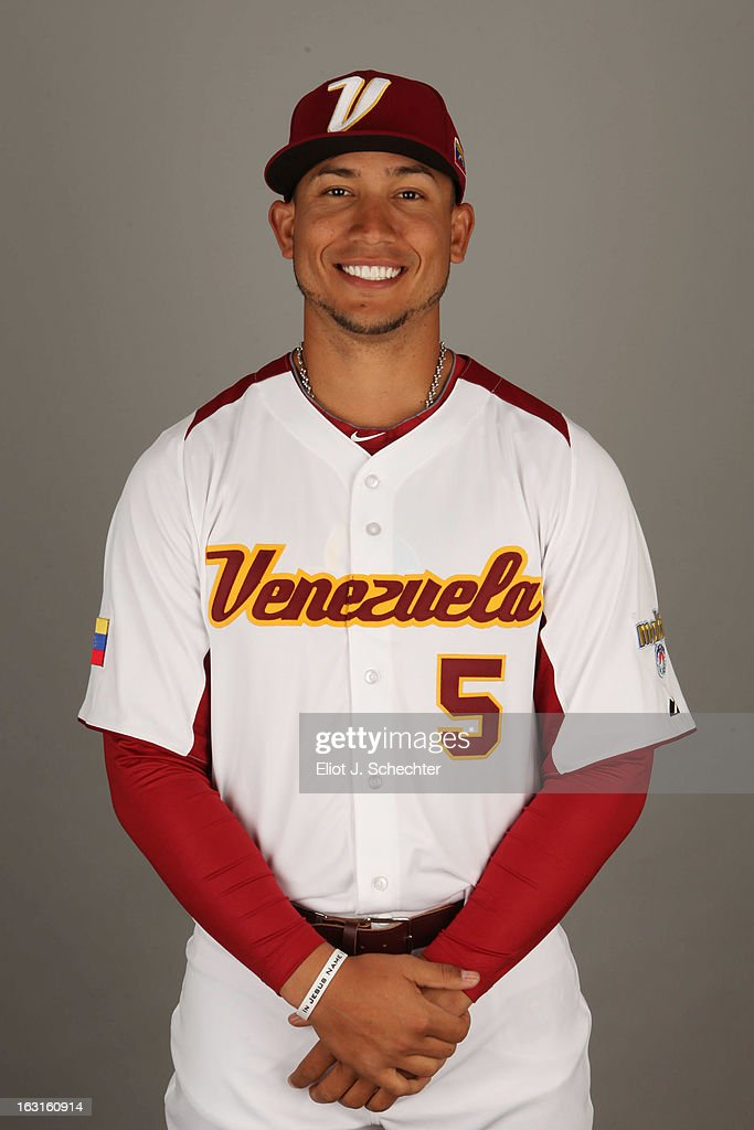 Carlos Gonzalez #5 of Team Venezuela poses for a headshot for the 2013 World Baseball Classic at Roger Dean Stadium on Monday, March 4, 2013 in Jupiter, Florida.