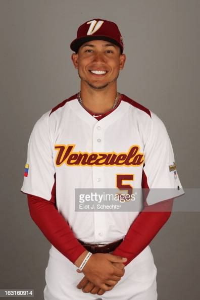 Carlos Gonzalez of Team Venezuela poses for a headshot for the 2013 World Baseball Classic at Roger Dean Stadium on Monday March 4 2013 in Jupiter...