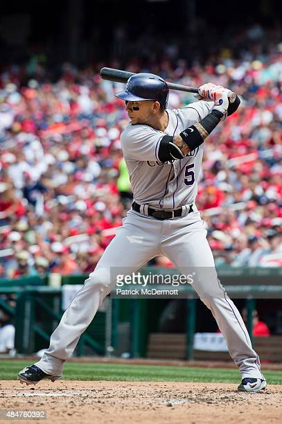 Carlos Gonzalez of the Colorado Rockies bats against the Washington Nationals in the fifth inning of a baseball game at Nationals Park on August 9...
