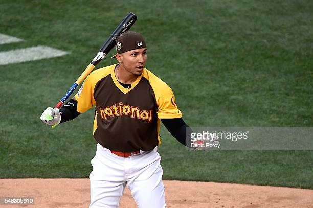 Carlos Gonzalez of the Colorado Rockies competes during the TMobile Home Run Derby at PETCO Park on July 11 2016 in San Diego California