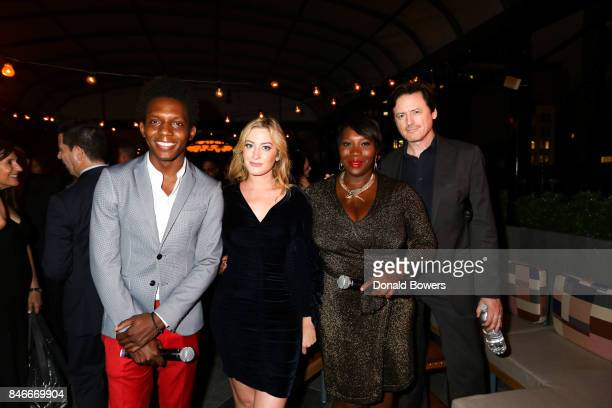Carlos Greer Elizabeth Wagmeister Bevy Smith and John Fugelsang attend the Page Six TV Launch Party on September 13 2017 in New York City