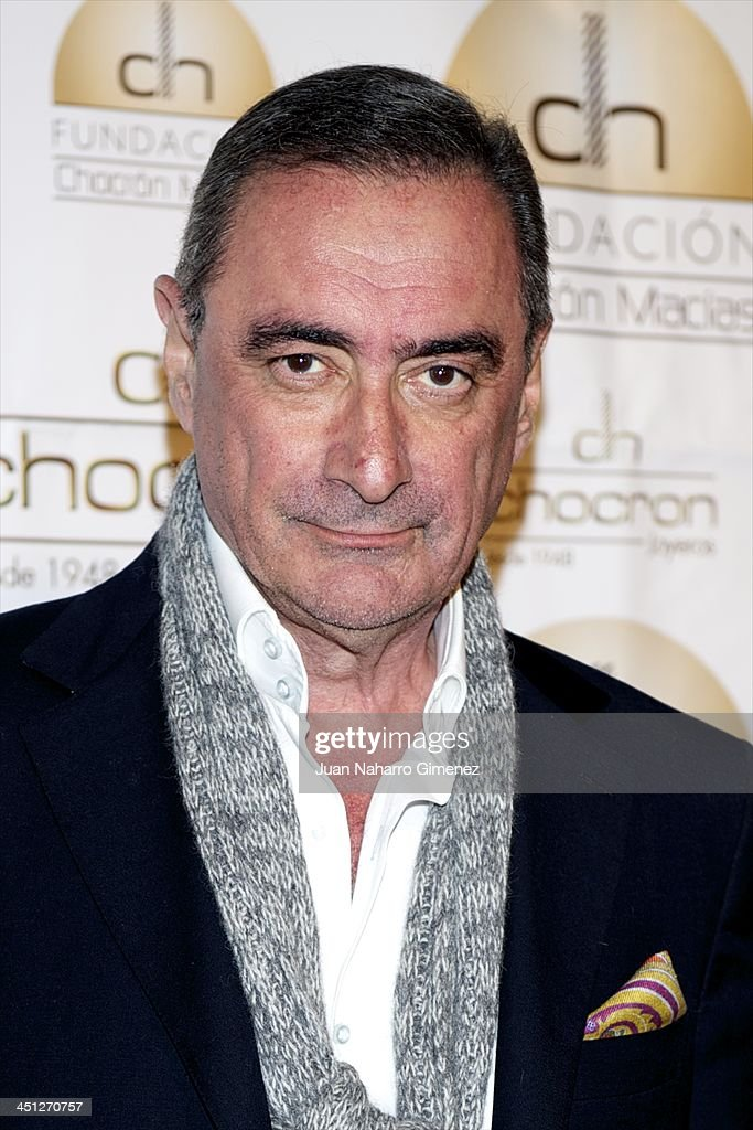 Carlos Herrera attends Chocron Jewelry Charity Catalogue presentation at Teatriz Restaurant on November 21, 2013 in Madrid, Spain.
