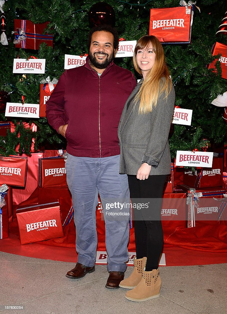 Carlos Jean (L) and his wife attend the inauguration of Beefeater London Market at the Palacio de Cibeles on December 6, 2012 in Madrid, Spain.