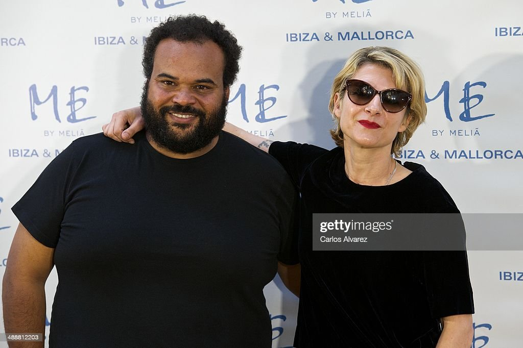 Carlos Jean and Spanish actress <a gi-track='captionPersonalityLinkClicked' href=/galleries/search?phrase=Najwa+Nimri&family=editorial&specificpeople=578073 ng-click='$event.stopPropagation()'>Najwa Nimri</a> attend the Hotel ME reopening party on May 8, 2014 in Madrid, Spain.