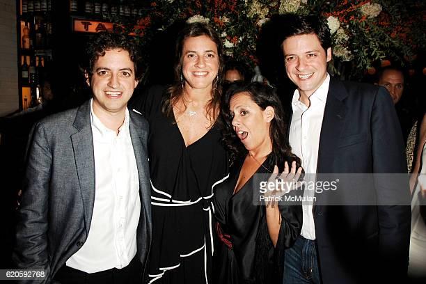 Carlos Jereissati Filho Erika Jereissati Bebel Gilberto and Pedro Jereissati attend Private Dinner hosted by CARLOS JEREISSATI CEO of IGUATEMI at...