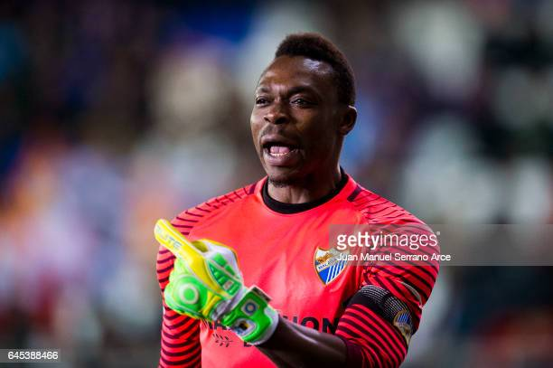 Carlos Kameni of Malaga CF reacts during the La Liga match between SD Eibar and Malaga CF at Ipurua Municipal Stadium on February 25 2017 in Eibar...