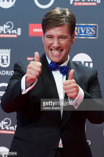 Carlos Latre attends the Platino Awards 2017 photocall at the La Caja Magica on July 22 2017 in Madrid Spain