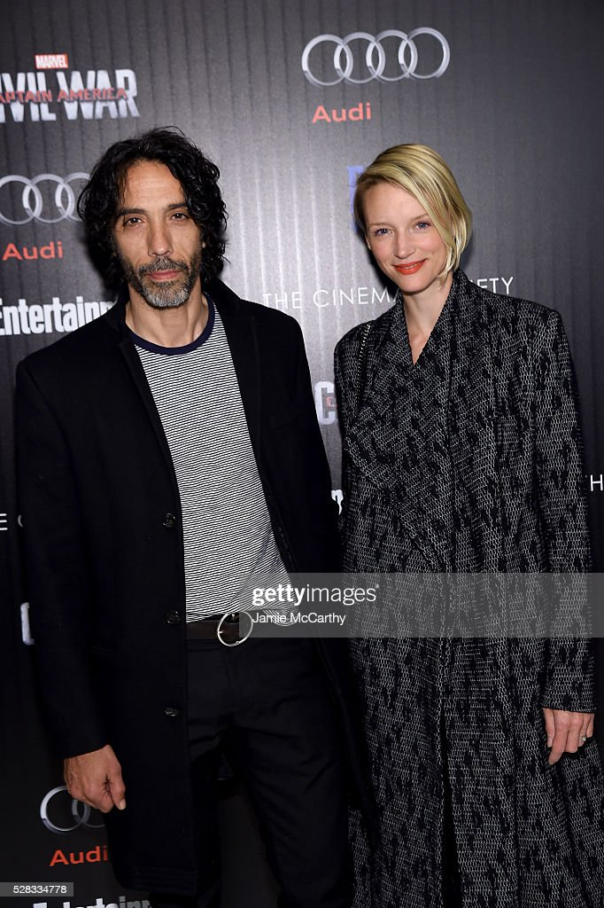 <a gi-track='captionPersonalityLinkClicked' href=/galleries/search?phrase=Carlos+Leon&family=editorial&specificpeople=653413 ng-click='$event.stopPropagation()'>Carlos Leon</a> and Betina Holte attend the screening Of Marvel's 'Captain America: Civil War' hosted by The Cinema Society with Audi & FIJI at Henry R. Luce Auditorium at Brookfield Place on May 4, 2016 in New York City.