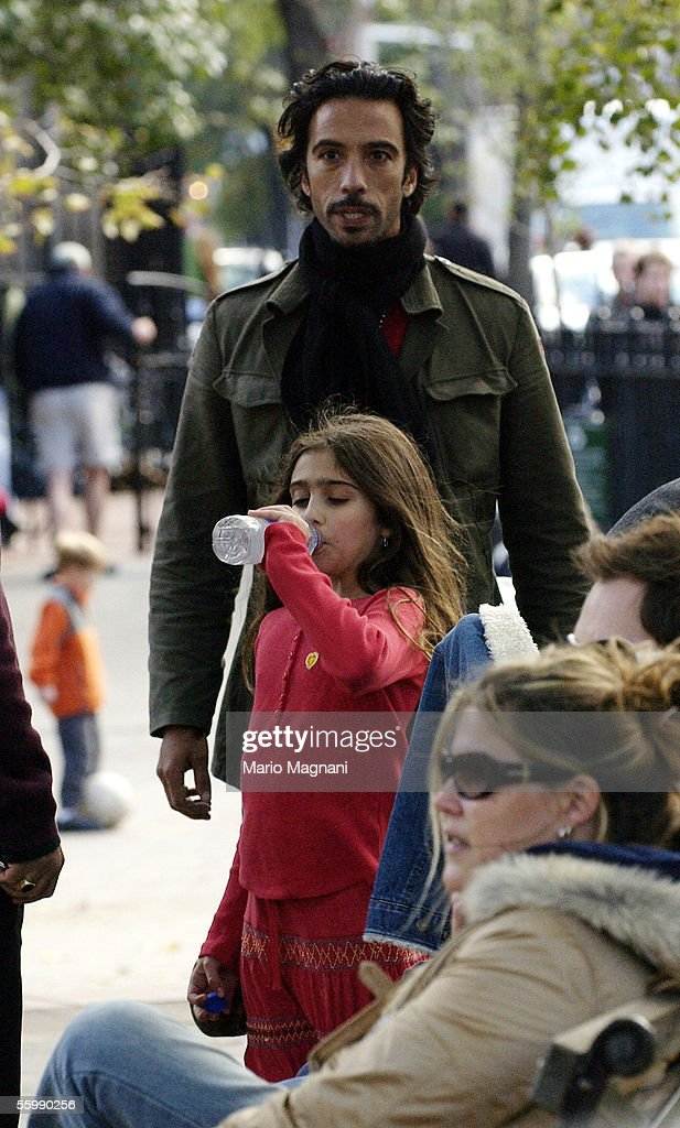 Carlos Leon is seen with his daughter with Madonna, Lourdes, on October 23, 2005 in New York City.