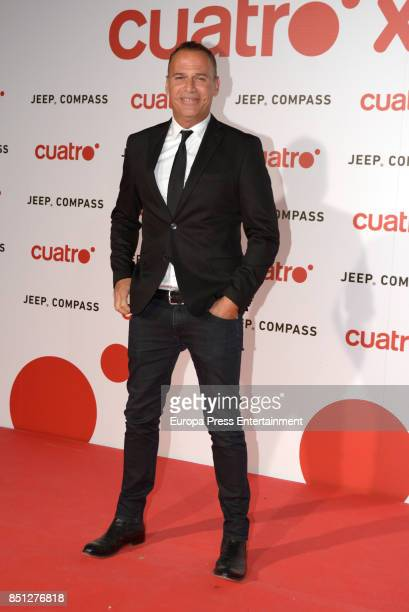 Carlos Lozano attends the presentation of new season of Cuatro TV Channel on September 21 2017 in Madrid Spain