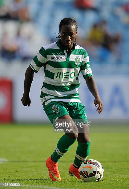 Carlos Mane of Sporting Clube de Portugal in action during the Teresa Herrera Trophy match between Real Sporting de Gijon and Sporting Clube de...