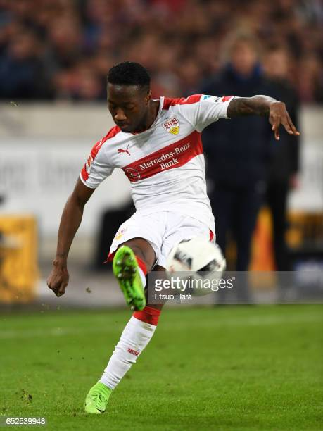 Carlos Mane of Stuttgart in action during the Second Bundesliga match between VfB Stuttgart and VfL Bochum at MercedesBenz Arena on March 10 2017 in...
