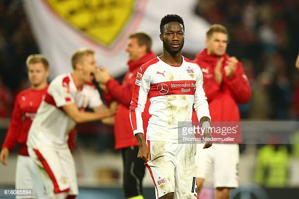 Carlos Mane of Stuttgart iseen after the Second Bundesliga match between VfB Stuttgart and TSV 1860 Muenchen at MercedesBenz Arena on October 21 2016...