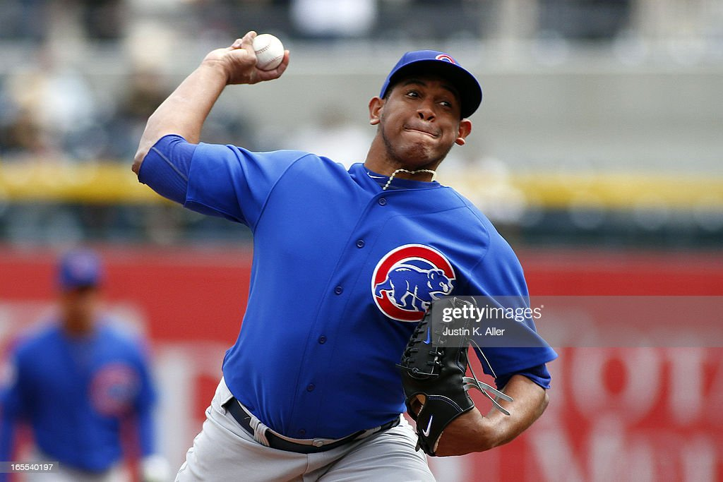 <a gi-track='captionPersonalityLinkClicked' href=/galleries/search?phrase=Carlos+Marmol&family=editorial&specificpeople=556707 ng-click='$event.stopPropagation()'>Carlos Marmol</a> #49 of the Chicago Cubs pitches in the ninth inning against the Pittsburgh Pirates during the game on April 4, 2013 at PNC Park in Pittsburgh, Pennsylvania. The Cubs defeated the Pirates 3-2.