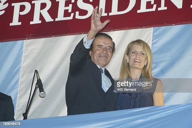 Carlos Menem Leads In The Second Round Of Presidential Elections Les résultats du 1er tour des élections présidentielles Carlos MENEM arrivé en tête...