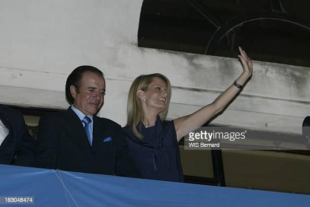 Carlos Menem Leads In The Second Round Of Presidential Elections Les résultats du 1er tour des élections présidentielles vue en contreplongée de...