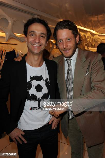Carlos Miele and Lapo Elkann attend Carlos Miele and Vogue Italia Celebrate Limited Edition of TShirts Designed by Lapo Elkann and Bianca Brandolini...