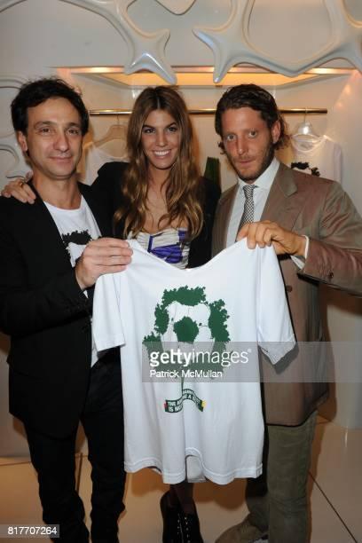 Carlos Miele Bianca Brandolini and Lapo Elkann attend Carlos Miele and Vogue Italia Celebrate Limited Edition of TShirts Designed by Lapo Elkann and...