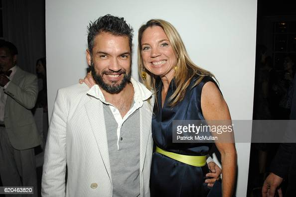 Carlos Mota and CeCe Coffin attend LA MER and OCEANA Party for WORLD OCEAN DAY 2008 at 620 Loft Garden on June 4 2008 in New York City