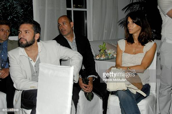 Carlos Mota John Varvatos and Joyce Varvatos attend LA MER and OCEANA Party for WORLD OCEAN DAY 2008 at 620 Loft Garden on June 4 2008 in New York...