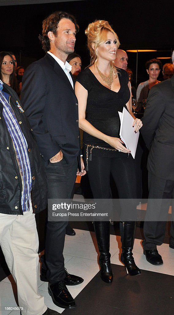 Carlos Moya and Carolina Cerezuela attend a charity dinner to raise funds for El Chad on November 8 2012 in Madrid Spain