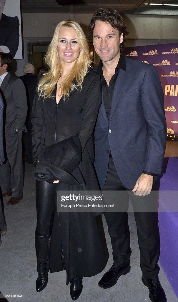 Carlos Moya and Carolina Cerezuela attend 'Ciudad de la Raqueta Awards' 2013 on December 3 2013 in Madrid Spain
