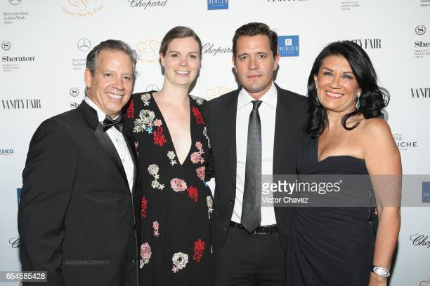 Carlos Muriel Nicolette Koeman Pablo Sprenger Martha Mejia attend the Happy Hearts Foundation gala at Sheraton Maria Isabel Hotel Towers on March 16...