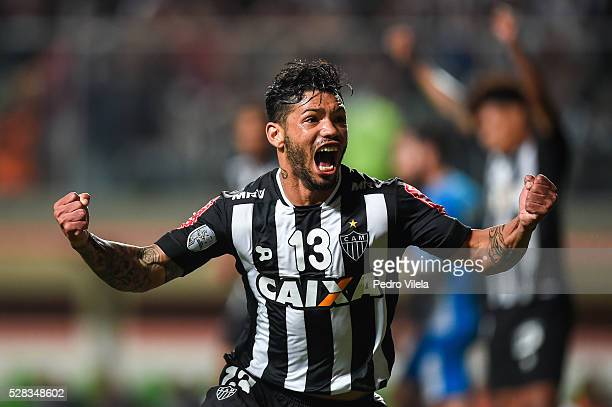 Carlos of Atletico MG celebrates a scored goal against Racing during a match between Atletico MG and Racing as part of Copa Bridgestone Libertadores...