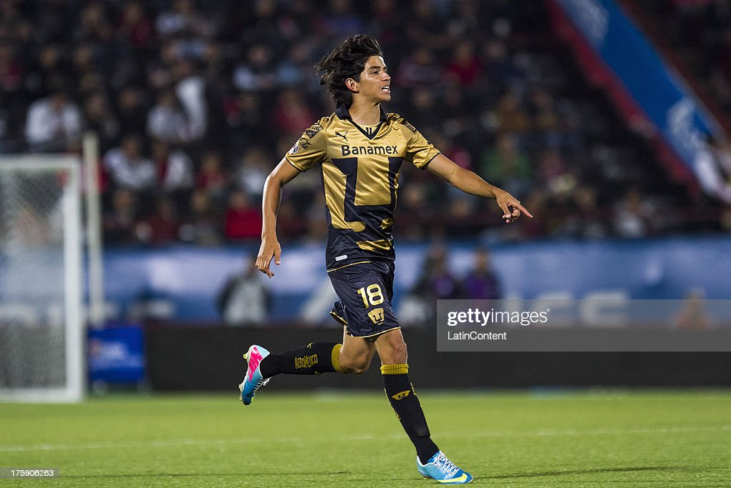 Carlos Orrantia of Pumas in action during a match between Tijuana and Pumas as part of Apertura 2013 Liga MX, at Caliente Stadium, on August 9, 2013 in Tijuana, Mexico.