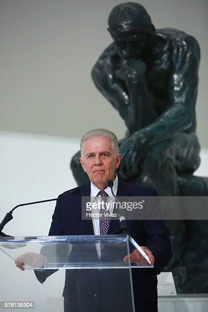 Carlos Padilla President of the Mexican Olympic Committee during Mexico Olympic Team Farewell Ceremony at Soumaya Museum on July 20 2016 in Mexico...