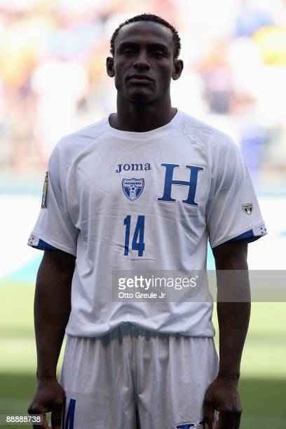 Carlos Palacios of Honduras looks on before the 2009 CONCACAF Gold Cup game against Haiti on July 4 2009 at Qwest Field in Seattle Washington