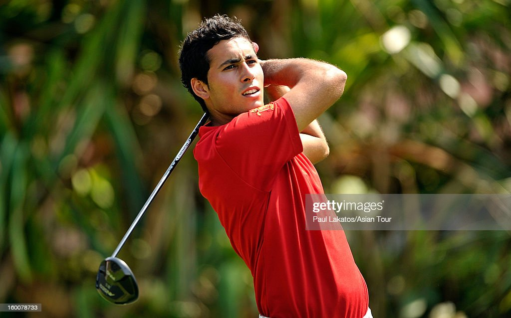 Carlos Pigem of Spain plays a shot during round four of the Asian Tour Qualifying School Final Stage at Springfield Royal Country Club on January 26, 2013 in Hua Hin, Thailand.
