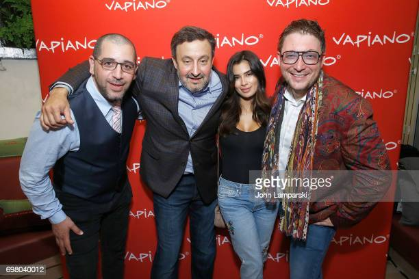 USA Carlos Politano Diane GuerreroMario C Bauer and guest attend Vapiano Grand ReLaunch Party at Vapiano on June 19 2017 in New York City