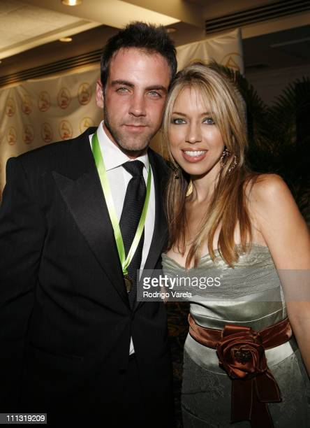 Carlos Ponce and guest during 2006 Latin Recording Academy Person of The Year Honoring Ricky Martin Arrivals at Sheraton Hotel in New York City New...