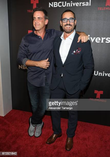 Carlos Ponce and Miguel Varoni attends the NBCUniversal International Offsite Event at LIV Fontainebleau on November 9 2017 in Miami Beach Florida