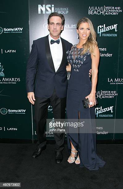 Carlos Ponce and Ximena Duque attends the Latin Songwriters Hall Of Fame event on October 15 2015 in Miami Beach Florida