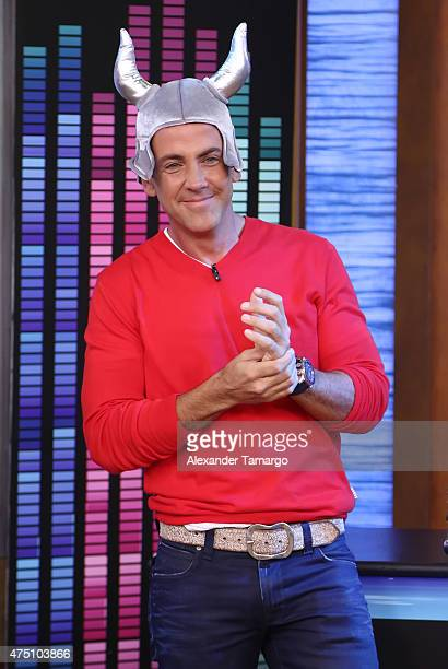 Carlos Ponce visits the set of 'Despierta America' to promote his film 'Spy' at Univision Studios on May 29 2015 in Miami Florida