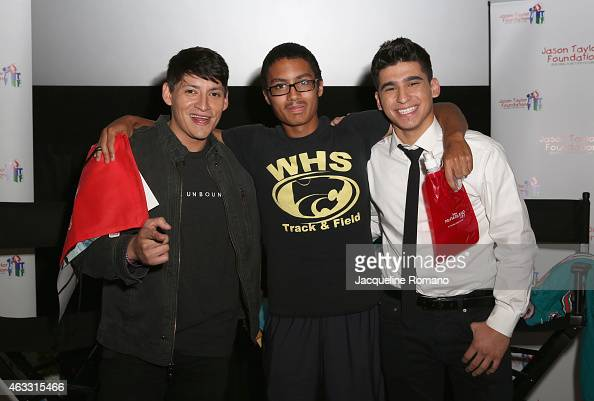Carlos Pratts Hector Duran and Area Youth attend the Private Screening of McFarland USA with Actors Carlos Pratts and Hector Duran Channing Crowder...
