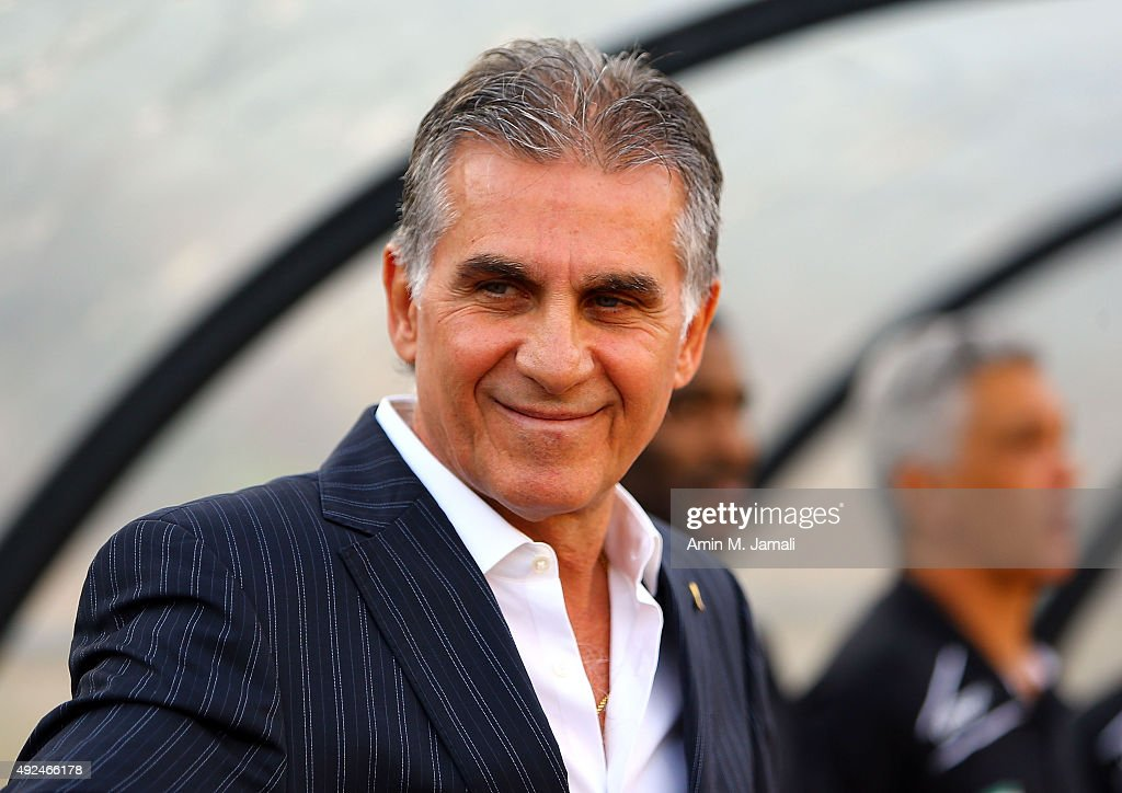 <a gi-track='captionPersonalityLinkClicked' href=/galleries/search?phrase=Carlos+Queiroz&family=editorial&specificpeople=211586 ng-click='$event.stopPropagation()'>Carlos Queiroz</a> looks on during the international friendly match between Iran and Japan at Azadi Stadium on October 13, 2015 in Tehran, Iran.