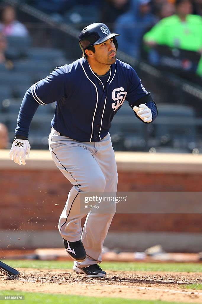 <a gi-track='captionPersonalityLinkClicked' href=/galleries/search?phrase=Carlos+Quentin&family=editorial&specificpeople=836474 ng-click='$event.stopPropagation()'>Carlos Quentin</a> #18 of the San Diego Padres in action against the New York Mets during their game on April 4, 2013 at Citi Field in the Flushing neighborhood of the Queens borough of New York City.