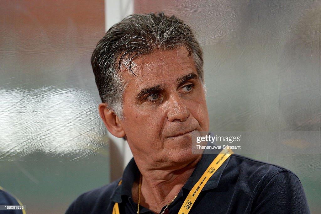 Carlos Quieroz team coach of Iran during their 2015 Asian Cup group B qualifying football match at Rajamangala Stadium on November 15, 2013 in Bangkok, Thailand.